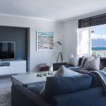 Idées de décoration intérieure de salon noir et blanc